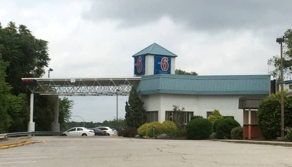 Motel 6 at at 20 Jefferson Blvd., where a man was arrested for crack cocaine possession Dec. 18.