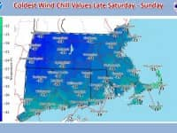 [CREDIT: NWS] The National Weather Service warns of high winds and extremely low temperatures during Saturday and Sunday.