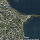 {CREDIT: Google Map Data] Conimicut Point Beach has been closed by the RI Health Department for high bacteria counts.
