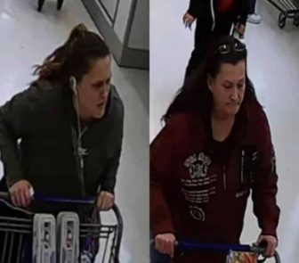 [CREDIT: WPD] Warwick Police arrested Naomi Ramsdell, 30, Central Falls, and Robin Houle, 49, Warwick, Feb. 21, for using a stolen EBT card to purchase groceries.
