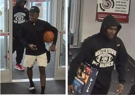 [Warwick PD]<br /> Warwick Police are seeking information on two men suspected of stealing a credit card on Oct. 17 and using it at two stores.