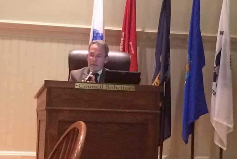[CREDIT: Rob Borkowski] The new solicitor for the Warwick City Council, Bill Conley.