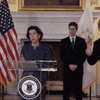 Gov. Gina Raimondo held a press conference March 30, announcing a fourth COVID-19 death, saying the state's commerce restrictions will likely last another month.