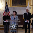Gov. Gina Raimondo held a press conference April 1 announcing two new COVID-19 deaths, a quarantine shopping service, RIDelivers, and a bridge loan program for struggling small businesses of 10 or fewer people.