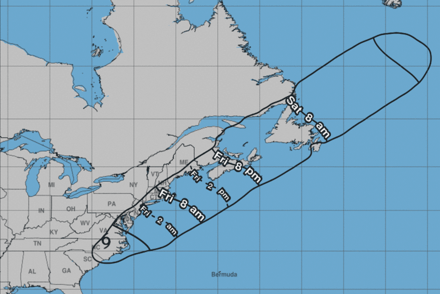[CREDIT: NWS] The National Weather Service has issued a Tropical Storm Warning for the area, forecasting flooding rain, damaging wind, and a possible tornado. The first strong winds from the storm are expected to arrive at 8 a.m. here.